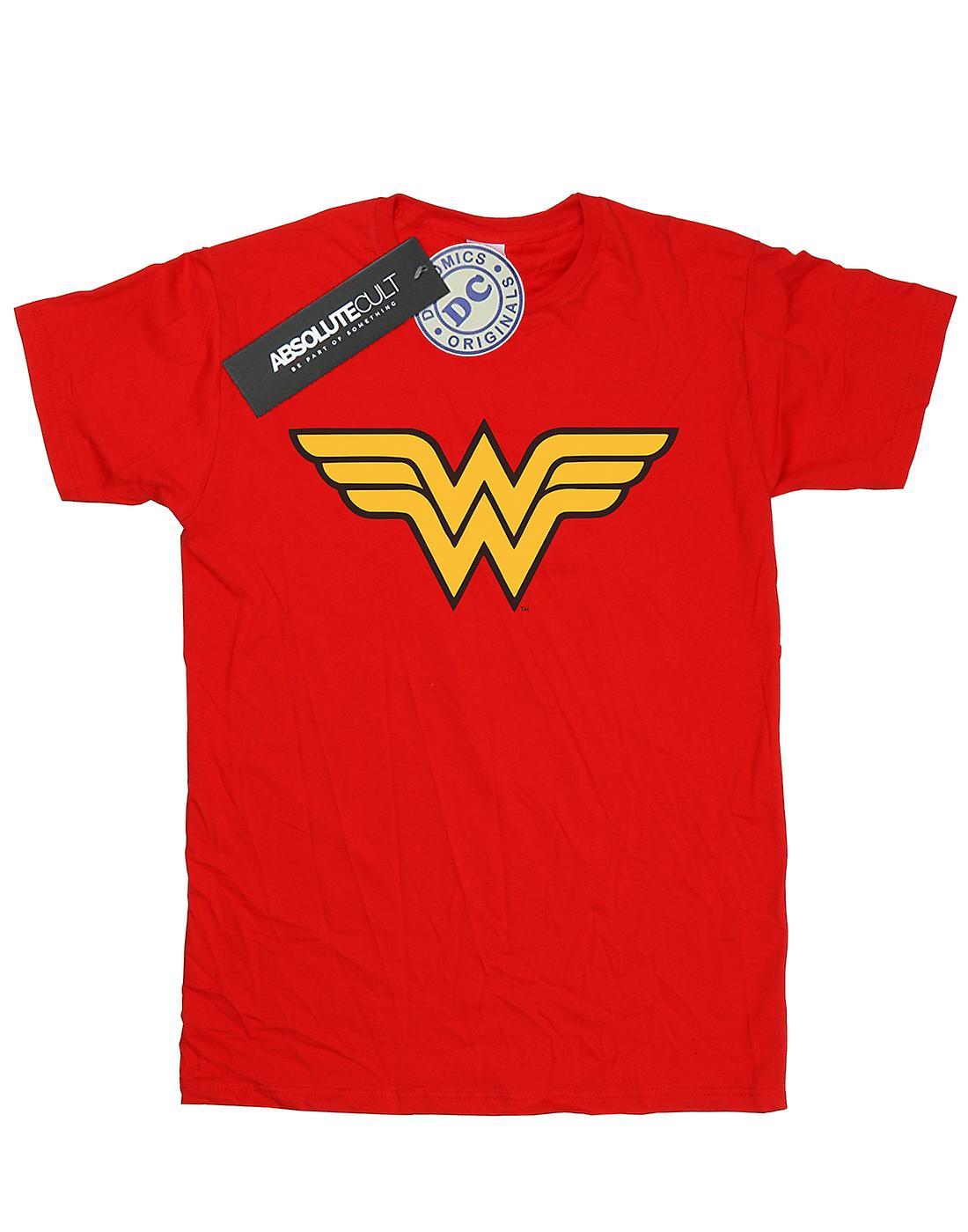 DC Comics Women's Wonder Woman Logo Boyfriend Fit T-Shirt