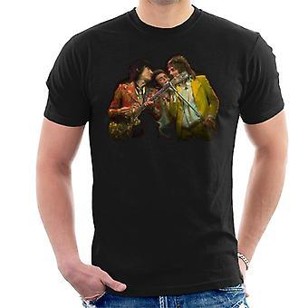 TV kertaa kasvot Rod Stewart ja kitara Miesten t-paita