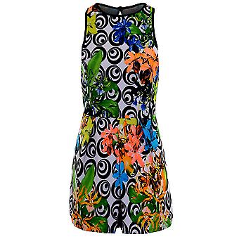 Laides Sleeveless Swirl Floral Print Textured Party Women's All In One Playsuit