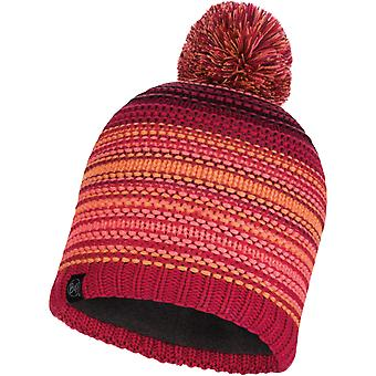 Buff Neper Knitted Bobble Hat in Bright Pink