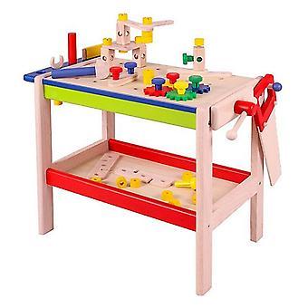 Njoy Kids Workbench en bois avec outils et accessoires 52 pièces