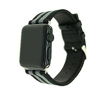 Curea de nailon pentru Apple Watch 3/2/1 38mm-armata verde