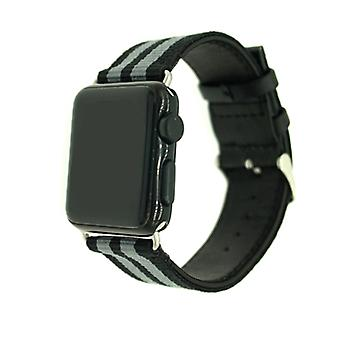Nylon riem voor Apple Watch 3/2/1 38mm-Army Green