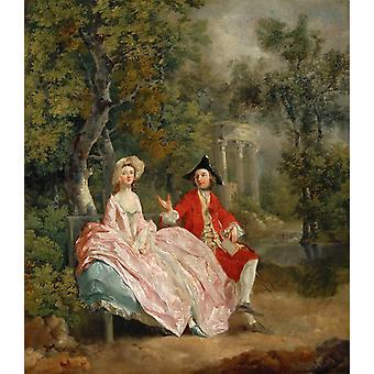 Conversation in the Park, Thomas Gainsborough, 60x50cm