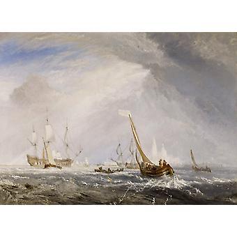 Antwerp van goyen looking,Joseph Mallord William Turner,50x40cm