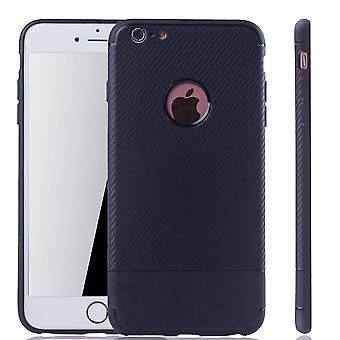 Apple iPhone 6 / 6s plus mobil täcker Schutzcase carbon optic stötfångaren Blau
