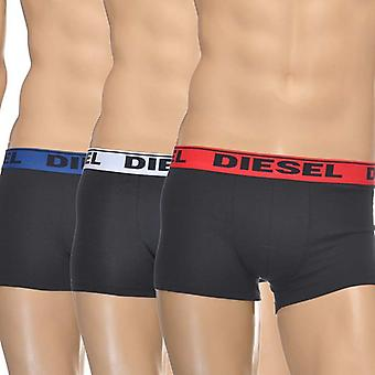 Diesel 3-Pack Boxer Trunk UMBX-Shawn, Black With Red/White/Blue, Small