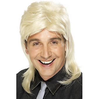 Short Blonde Mullet Wig, Jason Wig, Fancy Dress Accessory.