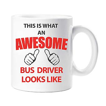 Hva ser en fantastisk bussjåføren ut krus