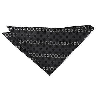 Negro, platino y plata en forma de panal Polka Dot Plaza de bolsillo