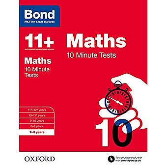 Bond 11+: Maths: 10 Minute Tests: 7-8 years