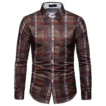 Cloudstyle Men's Shirt Colorblocked Checked Casual Shirt