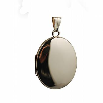 9ct Gold 30x24mm plain oval Locket