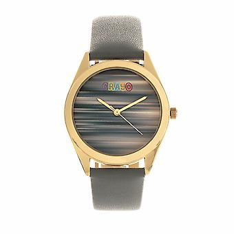 Crayo Graffiti Unisex Watch - Gold/Grey