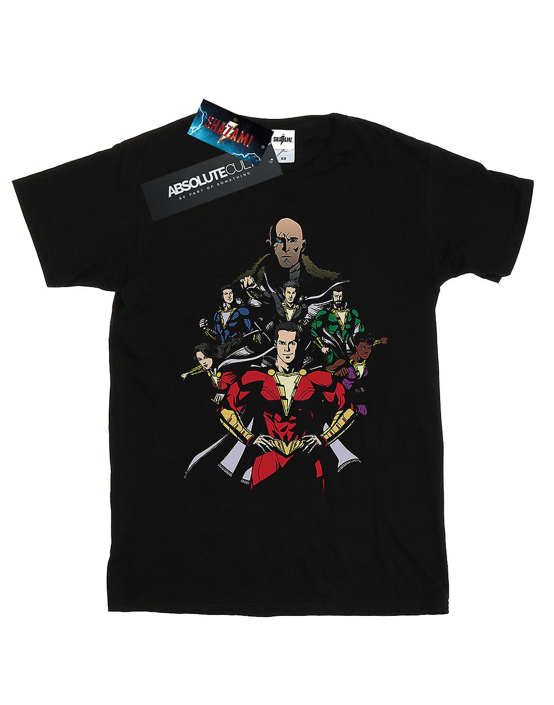DC Comics Men's Shazam Team Up T-Shirt