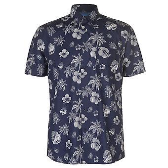 Pierre Cardin Herre blå kortærmet skjorte Casual toppe