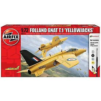 Airfix 1: 72 Folland GNAT T.1 Yellowjacks Starter Set - A68213