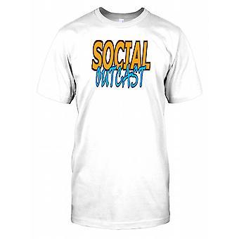Sosialt utstøtte - morsom vits Mens T-skjorte