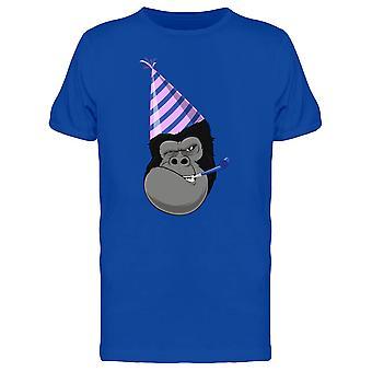 Gorilla Head Party Hat Tee Men's -Image by Shutterstock