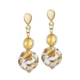 Éternelle Collection Tuscany Multi or vénitien en verre de Murano goutte Clip boucles d'oreilles