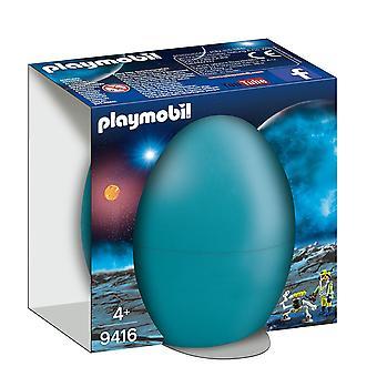 プレイモービル9416ロボットギフトの卵が付いているスペースエージェント