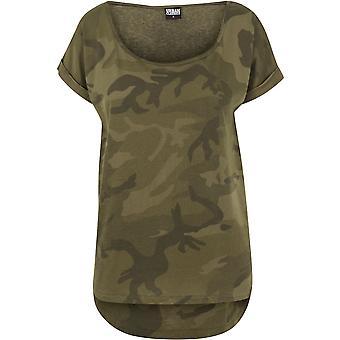 Urban Classics-T-shirt til kvinder-camouflage tilbage formet