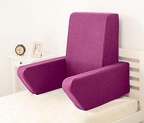 Changement sofas Una Soft Wool Effet Foam Reading Work Cushion Back Rest - Chardon