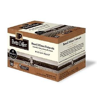 Peet's kaffe Brasilien Minas Naturais medium stege Keurig K-Cups 2 æske Pack