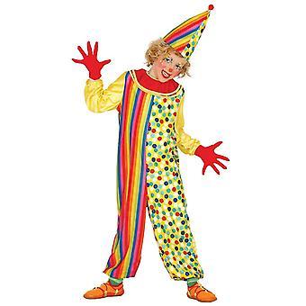 Boys Clown Circus Fancy Dress Costume