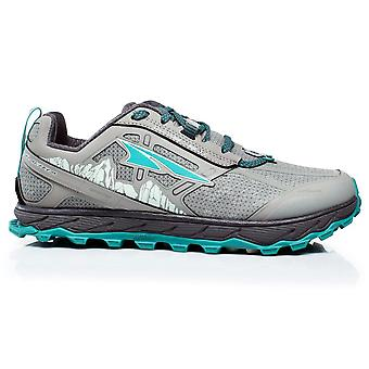 Altra Lone Peak 4 Low Rsm (waterproof) Womens Zero Drop Trail Running Shoes Grey/green