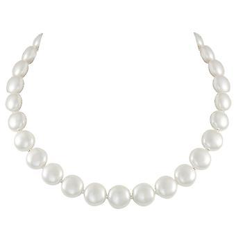 Eternal Collection herttua kunta valkoinen kuori Pearl Silver Tone kaula koru