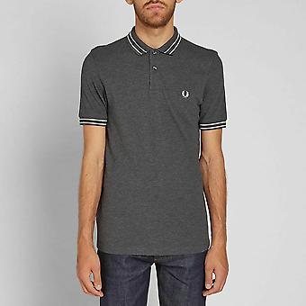Fred Perry Mens Tramline Tipped Pique Short Sleeved Polo Shirt