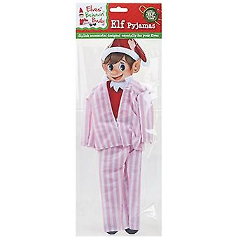 Elves Behavin Badly - Elf Nightware Striped Pyjamas - Pink