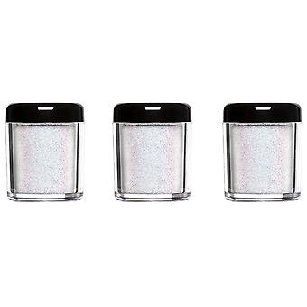 Barry M 3 X Barry M Glitter Rush Body Glitter - Snow Globe