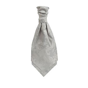 Dobell gutter sølv Paisley Cravat pre-bundet