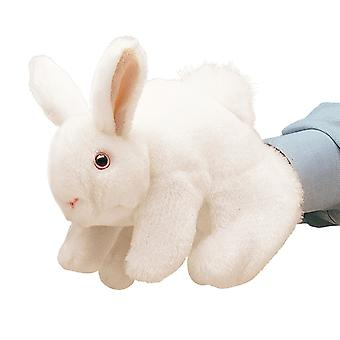 Hand Puppet - Folkmanis - Rabbit Bunny White New Animals Soft Doll Plush 2048