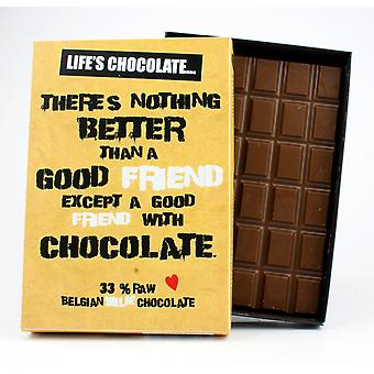 Funny Boxed Chocolate Quote Gift For Men Women Best Friend Greeting Card for Him or Her LC101