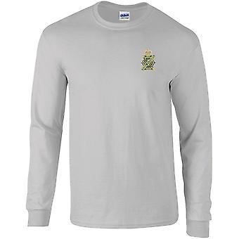 13ème 18ème Royal Hussars Colour - Licensed British Army Embroidered Long Sleeved T-Shirt
