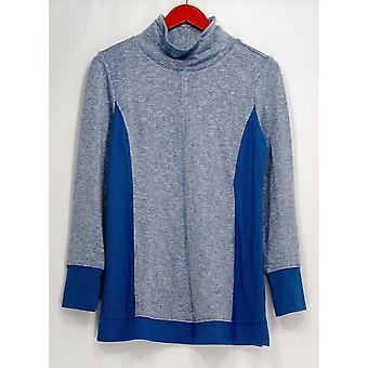 H door Halston trui trechter nek lange mouw Lapis blauw A307775