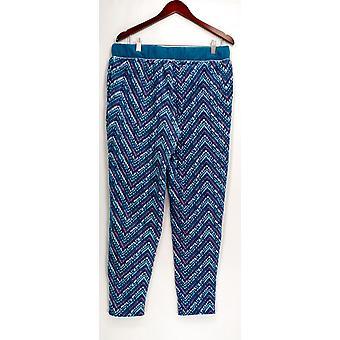 Cuddl Duds Sleep Pants, Petite Fleecewear Stretch Novelty Blue A297370