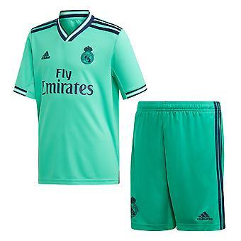 Adidas Real Madrid 2019/20 Kids La Liga Futebol Soccer terceiro kit Set verde