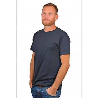Alan Red T-Shirt  Derby Blue Two Pack (Extra Long)