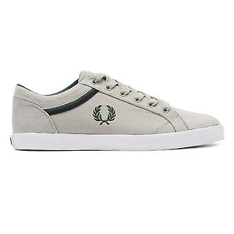 Fred Perry Baseline Mens Light Grey / Ivy Trainers