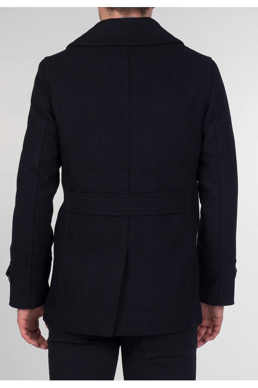 Merc London Doyle Dark Khaki Pea Coat