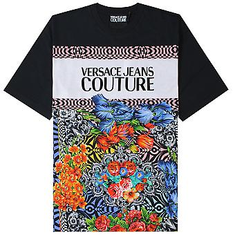 Versace jeans Couture floral logo print T-skjorte