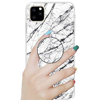 Beskyttende deksel for Eple iPhone 11 6,1 tommers hvit 3D marmor TPU silikon veske