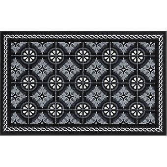 lavado + seco alfombra de cocina Azulejos negro lavable secador adecuado antideslizante robusto