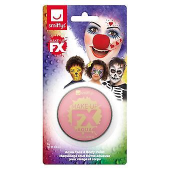 Smiffys maquillaje FX, rosa, Aqua cara y cuerpo pintura, 16ml, agua base disfraces accesorios