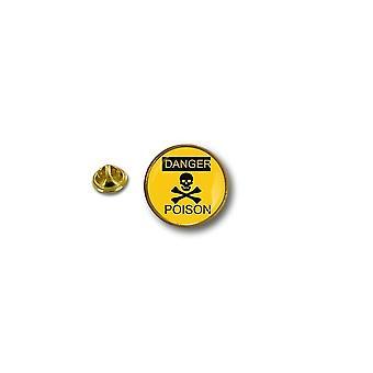Pins Pin Badge Pin's Metal Biker Motard Danger Poison Tete De Mort Biker