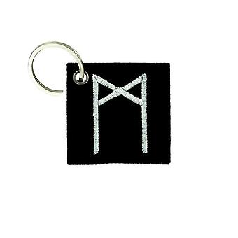 Cle Cles Key Brode Patch Ecusson Flag Vinland Odin Viking Rune Human